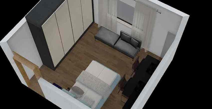 Quarto 01 Interior Design Render