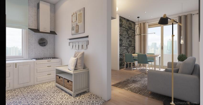 PISO. Interior Design Render