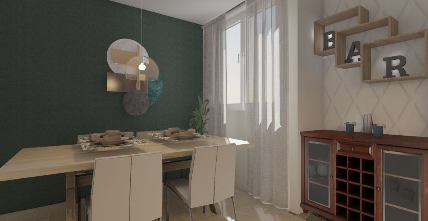 Proyecto Dayra House Interior Design Render