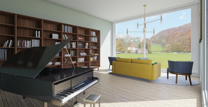 The house in Denmark Interior Design Render