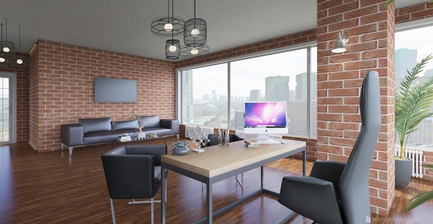 рабочий кабинет Interior Design Render