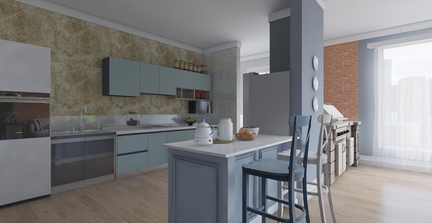 casa paroquial Interior Design Render