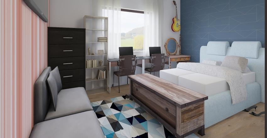 Quarto 02 Interior Design Render