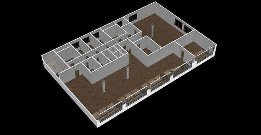 Офис вариант текущий Interior Design Render