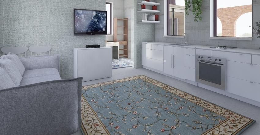 2bd389oficeloftlaund Interior Design Render