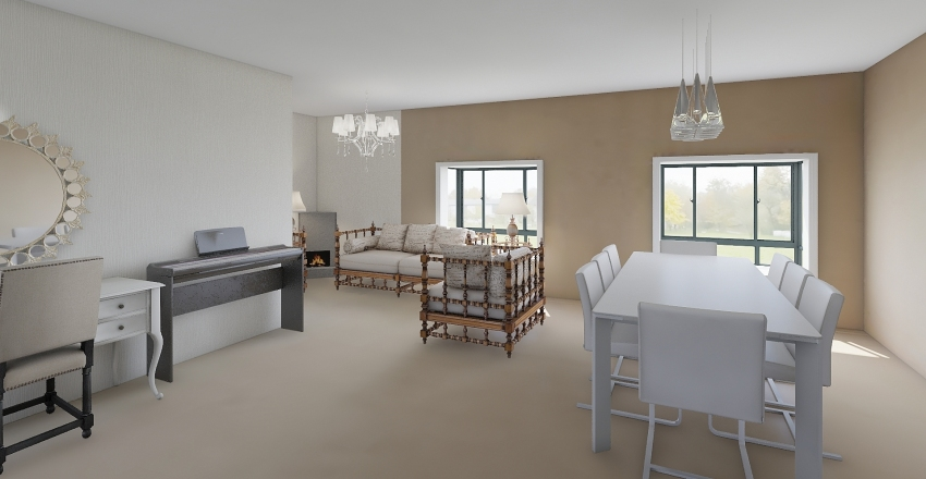 Dolls' House Interior Design Render