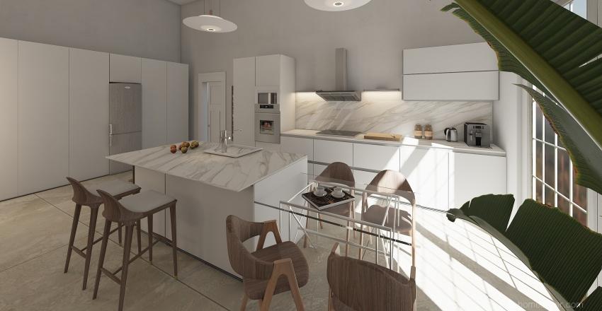 Finca Living/ Dinning Area Interior Design Render