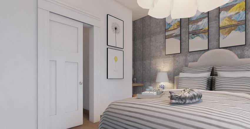 BILOCALE IN  GIALLO E BLU Interior Design Render