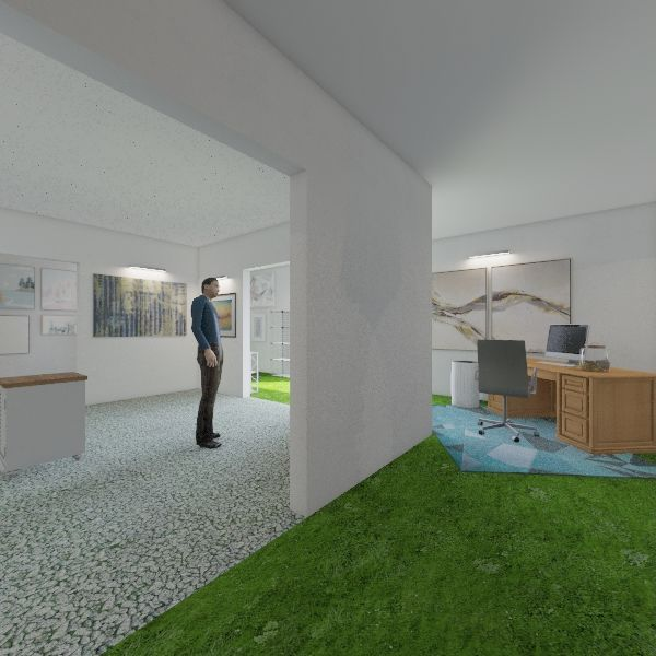Exhibition space Interior Design Render