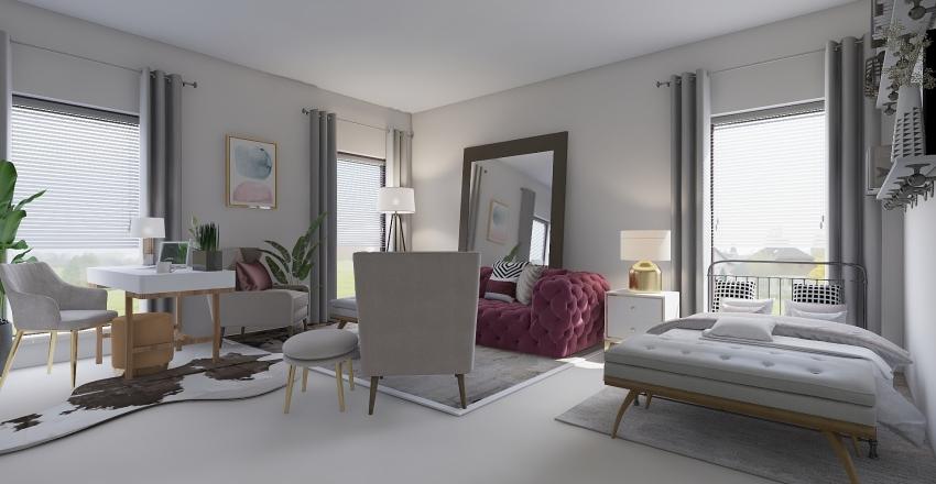 Renee Bedroom/Workspace Interior Design Render