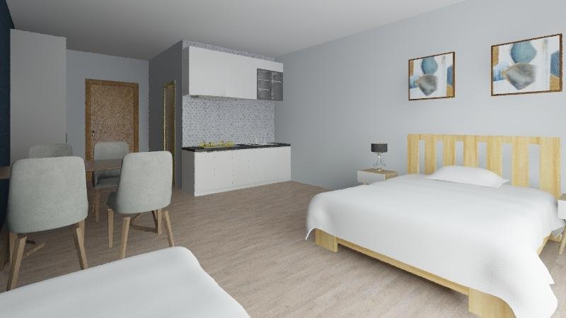 apartmán Interior Design Render