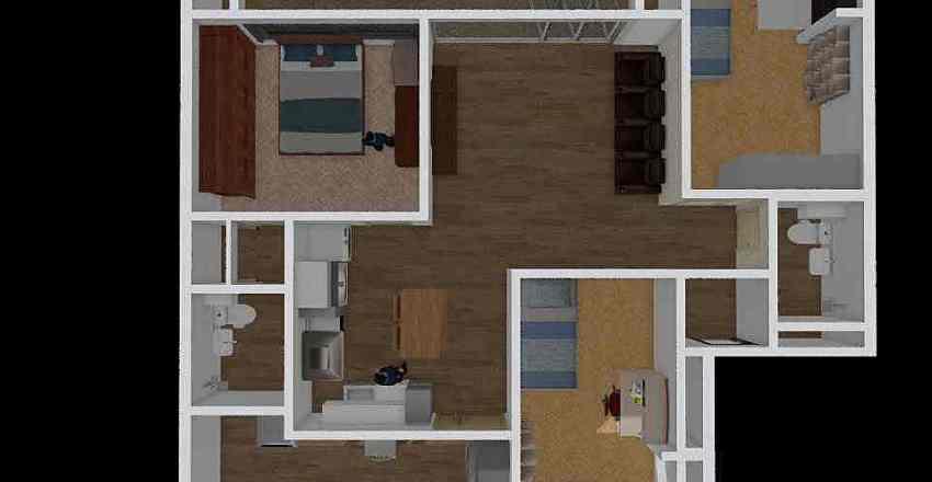 이사3 Interior Design Render