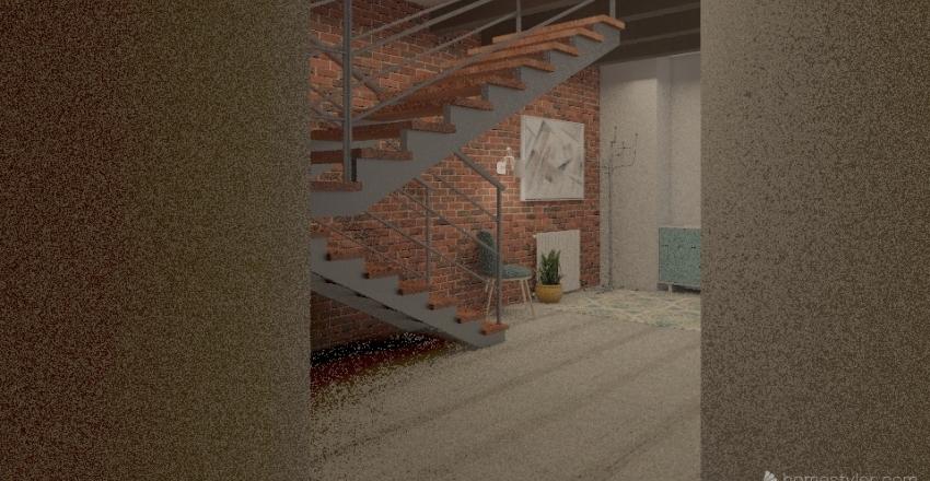 с лестницей Interior Design Render