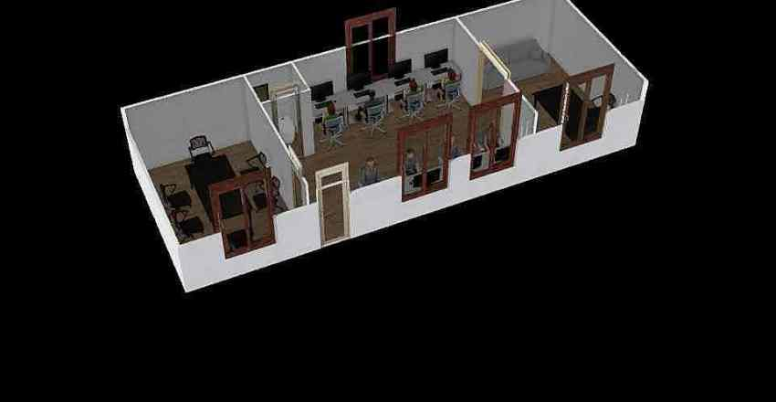 Revolution Office 40x14 Interior Design Render