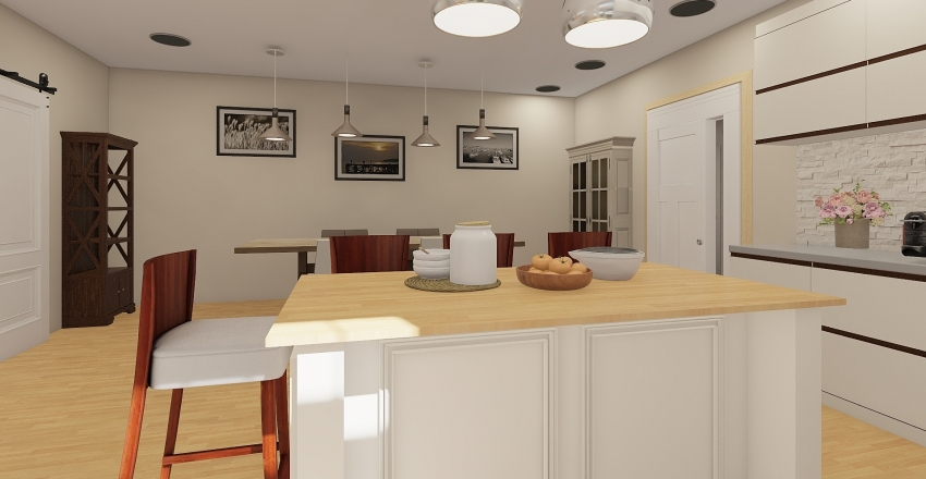 MODELO CASA 1 Interior Design Render