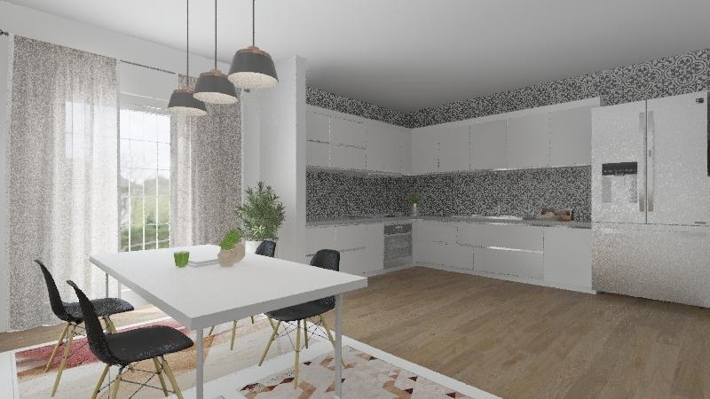 scandinacian Interior Design Render