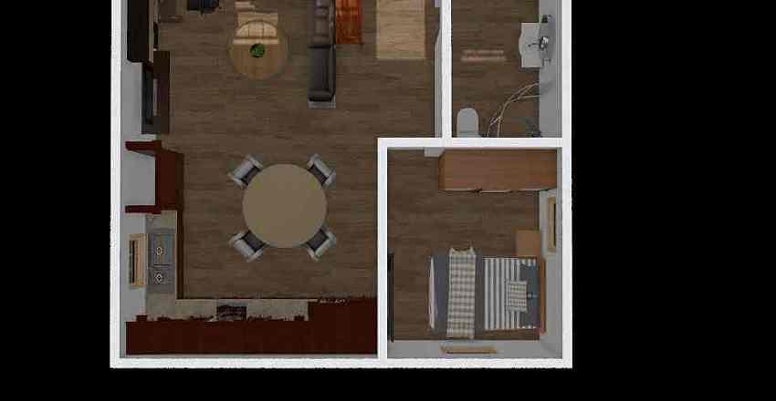 TN Cabin - 24x24 Interior Design Render