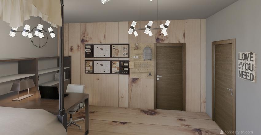 Cozy Attic Interior Design Render