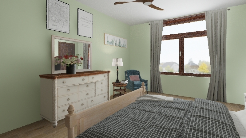 family home Interior Design Render