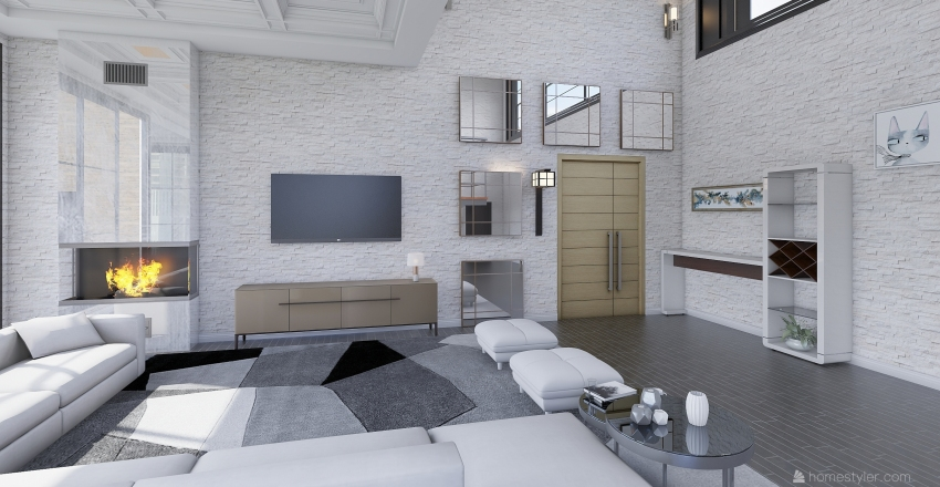 Modern Loft Interior Design Render