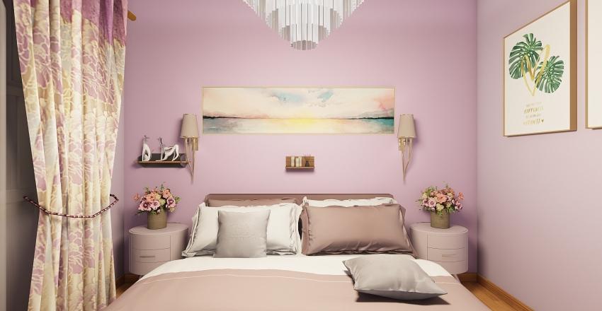 Cute Studio Appartment Interior Design Render
