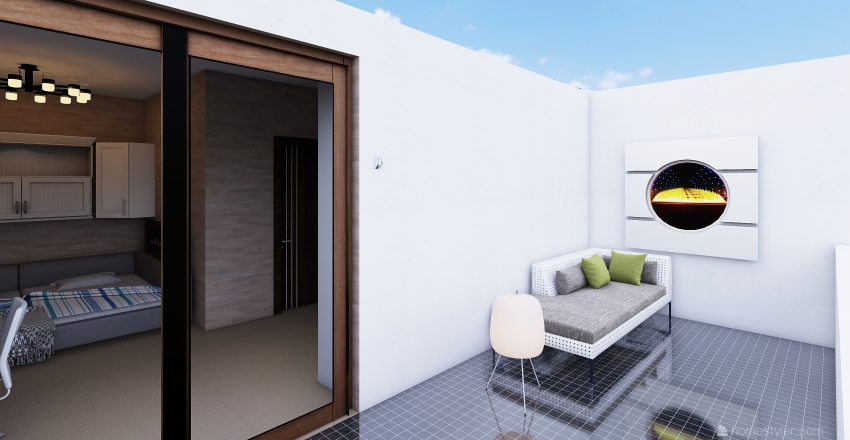 University Dorm Interior Design Render
