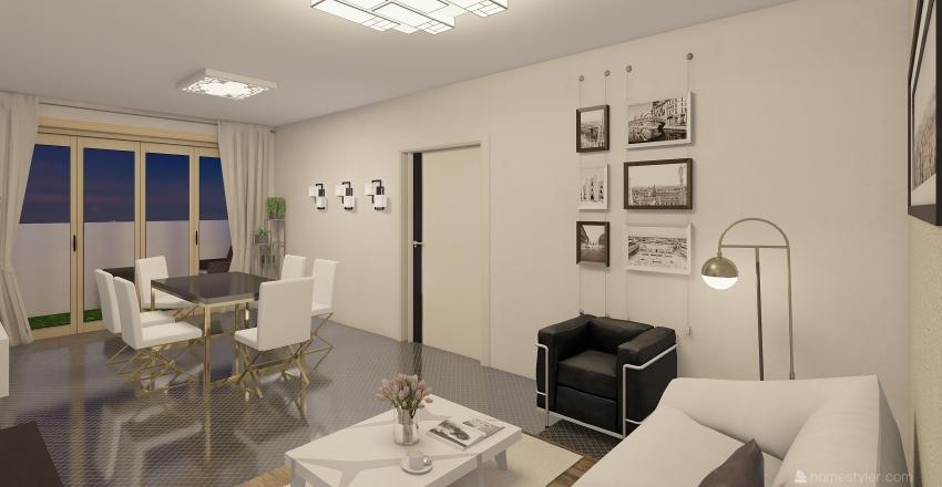 black and wight  Interior Design Render
