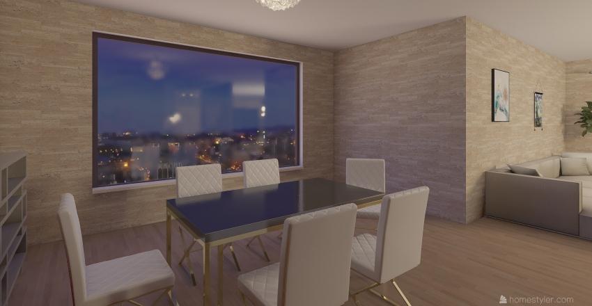 Party Apartment Interior Design Render