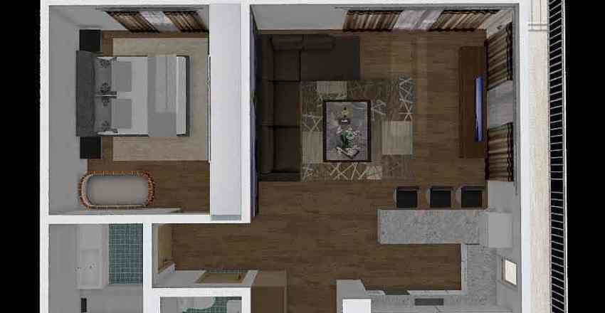 XIII. kerület Interior Design Render