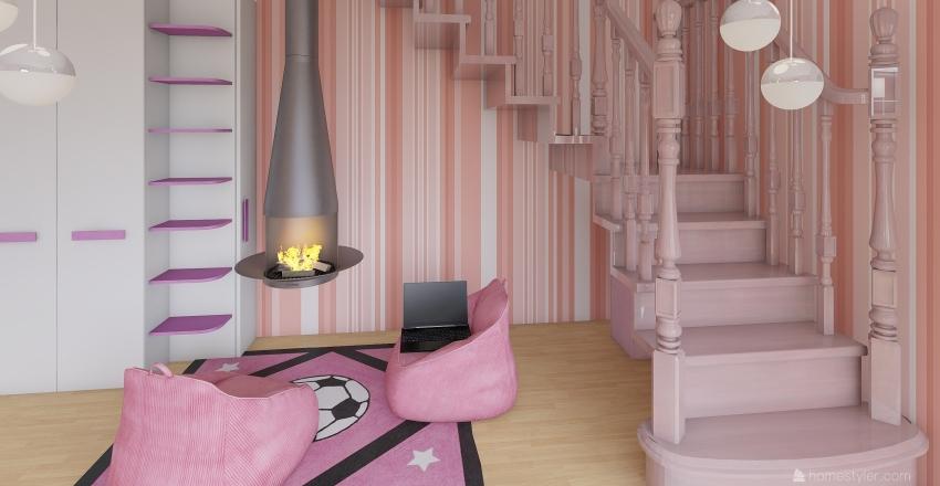 Child Luxury Bedroom Interior Design Render