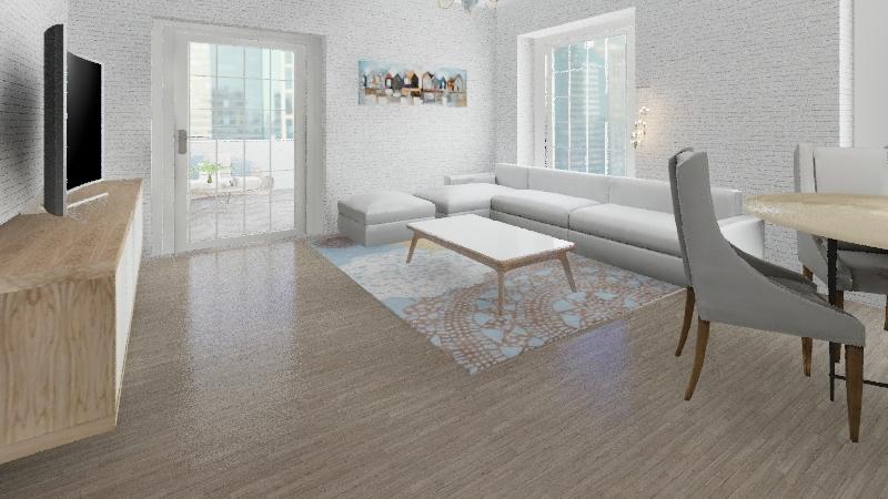 Apartamento 120 m2 c/terraza Interior Design Render