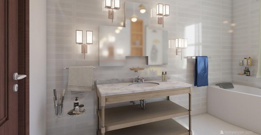 Small Vintage Apartment Interior Design Render