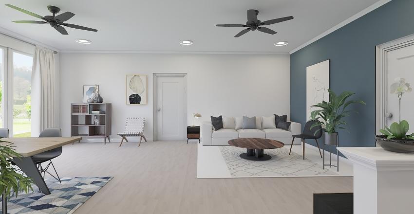 HAYES BASEMENT Interior Design Render