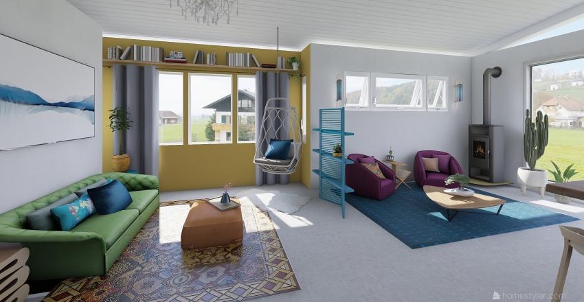 Heather - Loft Apartment  Interior Design Render