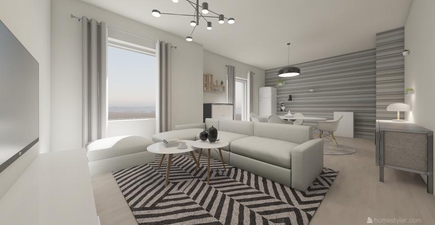 viavolta3camere Interior Design Render