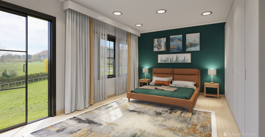 TAHTA RENGİNDE Interior Design Render