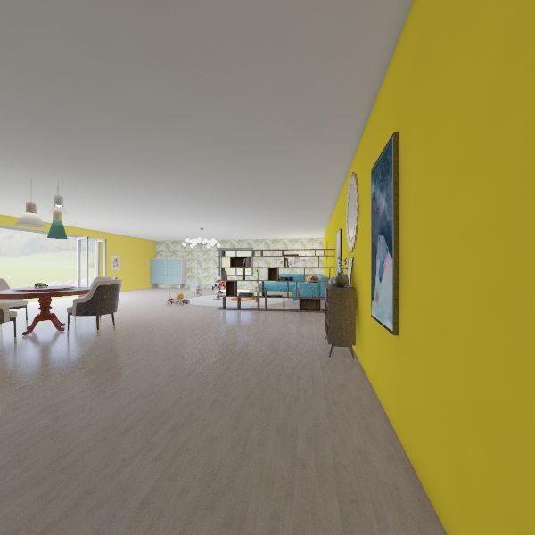 Luogo Neutro Apprendimento Interior Design Render