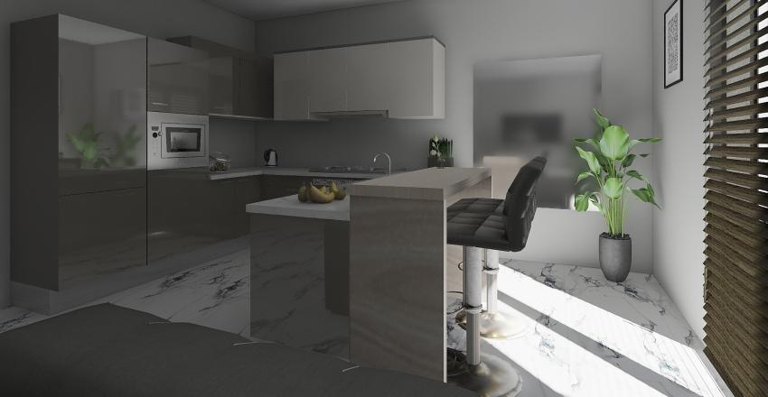 48,85m2 Interior Design Render