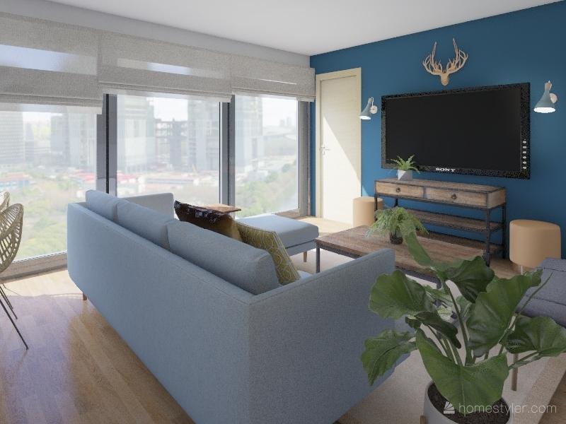 las lilas Interior Design Render