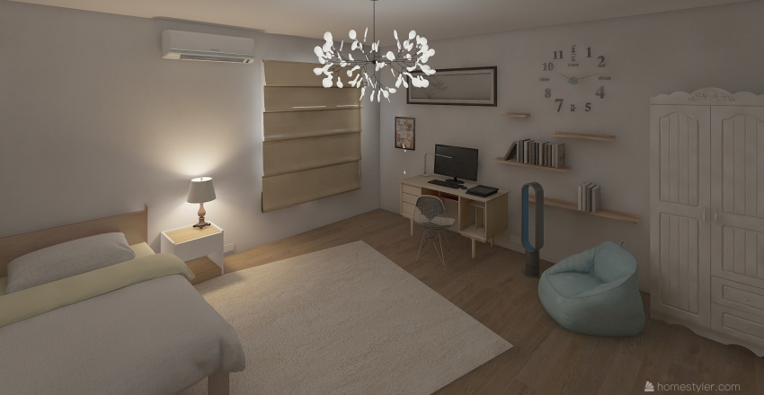 小小小小房間 Interior Design Render