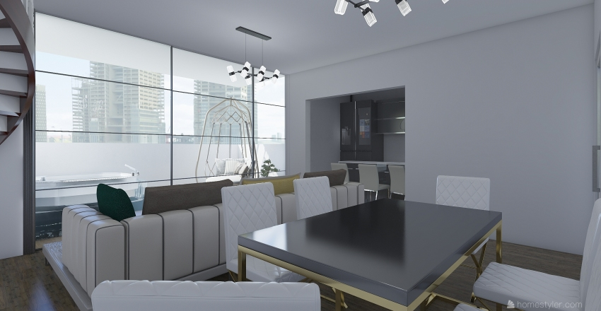 penthouse Interior Design Render