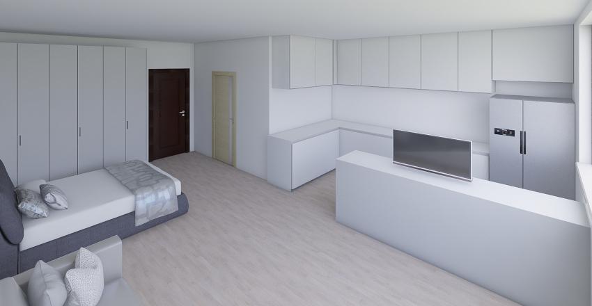 Popradska 68 - 41 m2 Interior Design Render