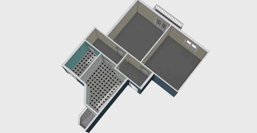 MALTA VANCHERI 55 MQ Interior Design Render