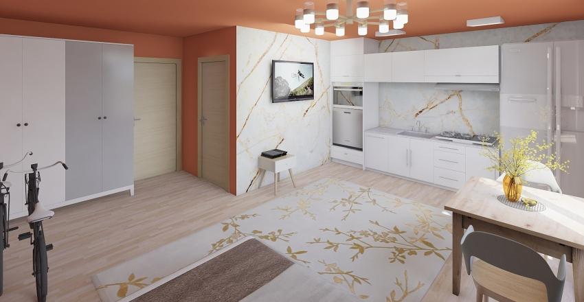Single Room 1 Interior Design Render