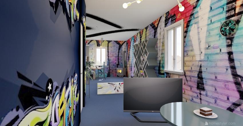 Graffiti  Interior Design Render