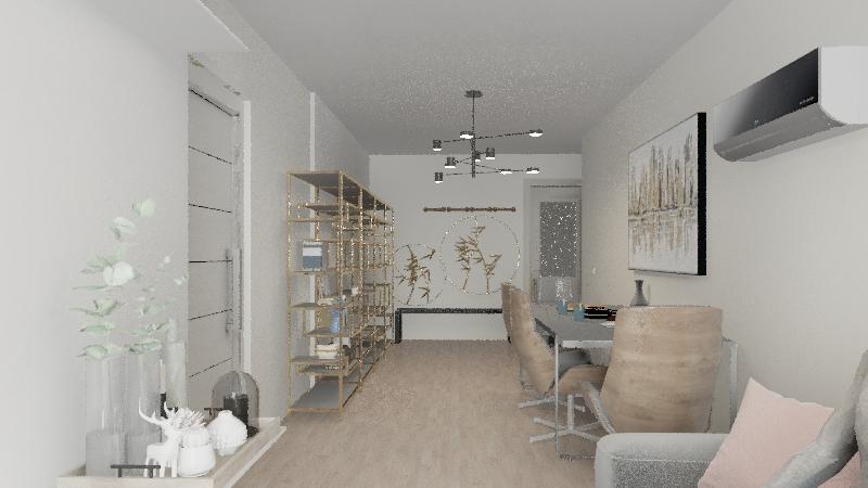 Piso Minimal. Interior Design Render