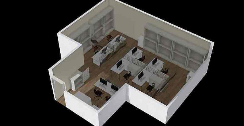 General Office - Option 1 Interior Design Render