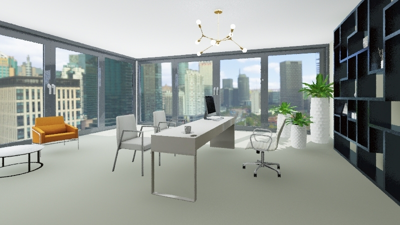 oficina guber Interior Design Render