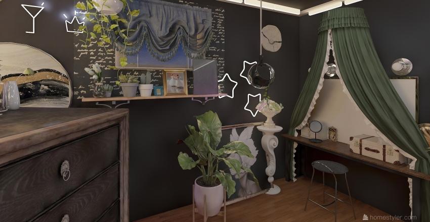 Eclectic Bedroom Interior Design Render
