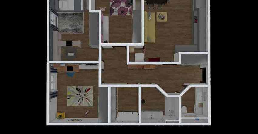 планировка с размерами Interior Design Render